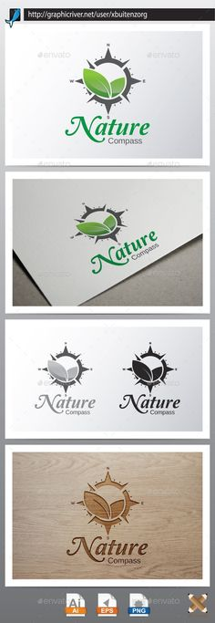 Nature Compass — Vector EPS #tourist #adventure • Available here → graphicriver.net/...