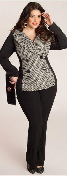 Miuccia Plus Size business Jacket & pants                                                                                                                                                     More