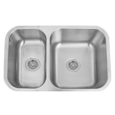 Galena Stainless Steel 28-Inch Reversible 70/30 Offset Double Bowl Undermount Sink