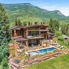 Dream Home Design, Modern House Design, My Dream Home, Dream House Exterior, Dream House Plans, Future House, Dream Mansion, Luxury Homes Dream Houses, Mountain Homes