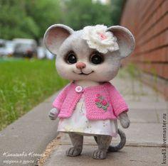 Animal toys, handmade.  Fair Masters - handmade.  Buy Suzy Mouse.  Handmade.  Grey, little mice, dry felting