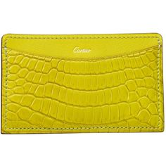 98a219724f9b Cartier C de Cartier Crocodile Card Holder (2,175 PEN) ❤ liked on Polyvore  featuring bags, wallets, crocodile bag, cartier wallet, golden bag, croco  wallet ...