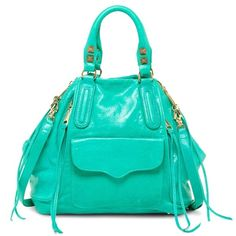 Spotted while shopping on Poshmark: NWT Rebecca Minkoff Romeo satchel in bright green! #poshmark #fashion #shopping #style #Rebecca Minkoff #Handbags