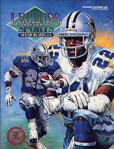 Legends Sports Memorabilia Magazine Nov/Dec 1992 Emmitt Smith Dallas Cowboys