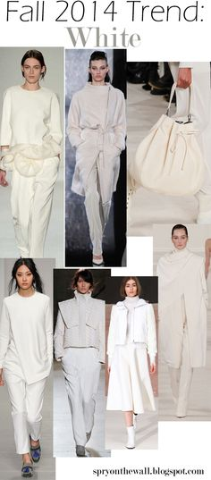 Fall 2014 Trend - White -Really? I like the idea, but not sure about the reality