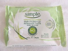 My Simple Eye Makeup Remover Pads review