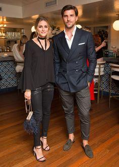 Olivia Palermo and Johannes Huebl at the Stuart Weitzman New York Fashion Week…