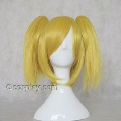 Vocaloid Kagamine Rin Blonde Short 30cm Cosplay WigsHair Style: Split type wigsRole: Vocaloid, Hard-R.K.mix, Kagamine RinMaterial: High Temperature Heat Resistant Synthetic Fibre ( Freely Shape, Heat Resistant up to 180°)Length: 30cm (11.81
