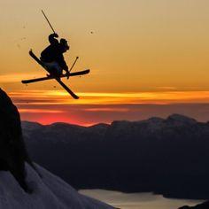 Summer skiing on Folgefonna Glacier, Norway. The Hardangerfjord is visible 1200 meters below. Best of FjordNorway by Jan Petter Svendal