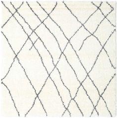 Shaggy Tangier - Vit / Mørk grå 250x250 Tangier, Shaggy, Jute, Former, Beige, Modern, Ash Beige, Utah, Burlap