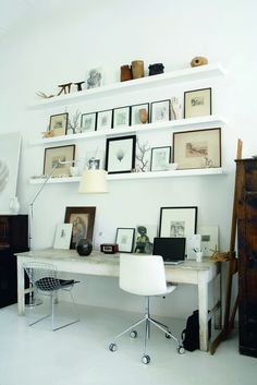 cottage office | from the book 'Plain Simple Useful: The Essence of Conran Style', by Sir Terence Conran