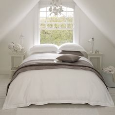 White Bedroom | I love that my bedroom is all white. It's so peaceful and stylish.