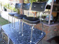 Nana'S Restored Retro Kitchen Setting Laminex Formica Table 6 Chairs in Neerim Junction, VIC | eBay