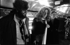 "Led Zeppelin Manager Peter Grant with Robert Plant aboard the band's private jet, ""The Starship"" Great Bands, Cool Bands, Private Jet Interior, 70s Rock And Roll, Page And Plant, Robert Plant Led Zeppelin, John Paul Jones, John Bonham, Whole Lotta Love"