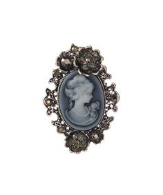 Another great find on #zulily! Gray & Blue Cameo Brooch #zulilyfinds