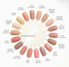 Nude nail polishes! My favorite!