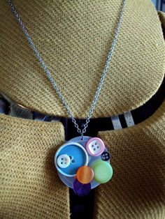 Candy Vintage Button Collage Necklace by FLNLHNLY on Etsy, $18.00
