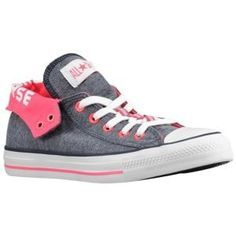 Converse CT Fold Down Ox - Womens - Sport Inspired - Shoes - Athletic Navy/Neon Pink - Fashion Madame