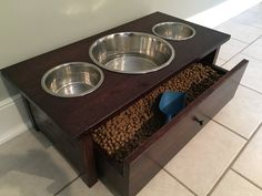 Dog bowl stand by TwistedTwigWoodworks on Etsy