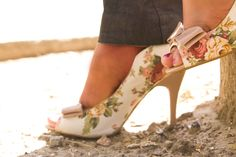 Show off your gorgeous gams with these feminine floral heels.