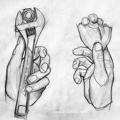 """""""İşçisin sen işçi kal"""" #hands #worker #brot #wrench #sketch #wanna #tattoo #these #Oberschenkel #dövme #istanbul #berlin"""