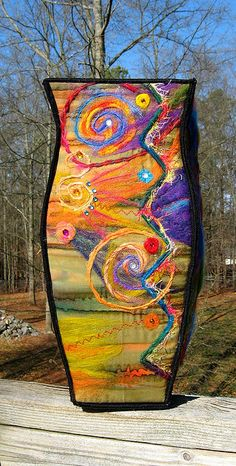 Halley's Comet Fiber Art Vessel | Flickr - Photo Sharing!