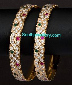 Gold Bangles latest jewelry designs - Page 7 of 30 - Indian Jewellery Designs Gold Bangles Design, Gold Jewellery Design, Gold Jewelry, Jewlery, Jewelry Design Earrings, Gold Earrings Designs, Buy Earrings, Jewelry Patterns, Indian Jewelry