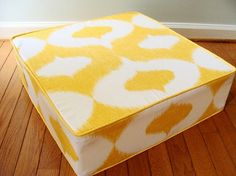 Furniture, Yellow Floor Cushions With Extra Large Floor Cushions: How to Make a Great Alternative Seating Floor Cushion