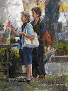 Artist James Crandall reveals beauty of daily life in this #painting. Found on the FASO Daily Art Show -- http://dailyartshow.faso.com
