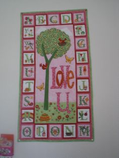 Handquilted panel made to my granddaughter