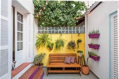 Trendy home garden design indian Home Garden Design, Patio Design, Home And Garden, Outdoor Spaces, Outdoor Living, Outdoor Decor, Terrace Garden, Garden Bed, Trendy Home