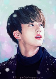 """"""" fanart ☆ jin   #HappyJinDay {ref} please do not edit or repost without permission """""""
