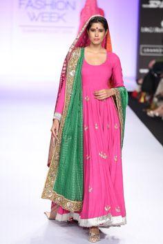 Summer/Resort 2014 Indian Long Dress, Dress Indian Style, Indian Dresses, Indian Wedding Outfits, Indian Outfits, Indian Attire, Indian Wear, Pakistani Couture, Designer Anarkali
