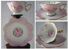 Hand Painted Cup and Saucer D Launer