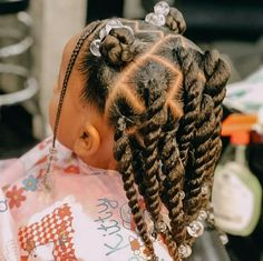 Black Baby Girl Hairstyles, Black Girl Braided Hairstyles, Girls Natural Hairstyles, Natural Hairstyles For Kids, Natural Hair Styles, Kid Hairstyles, Protective Hairstyles, Wedding Hairstyles, Kid Braid Styles