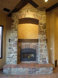30 best fireplaces images cottage fire places log homes rh pinterest com brick and stone combination fireplaces stone and brick fireplaces designs