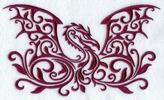 Daring Dragon Damask Machine Embroidery Designs at Embroidery Library! Trendy Tattoos, Cool Tattoos, Tatoos, Gun Tattoos, White Tattoos, Dragon Tattoos, Ankle Tattoos, Celtic Tattoos, Arrow Tattoos
