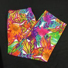 ec32237873846c Ralph Lauren Pants Plus Size 2X Pull On Elastic Bright Tropical Floral NWT  #LaurenRalphLauren #Wide #CasualorFun