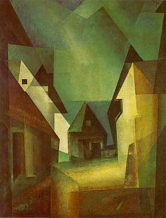 Lyonel Feininger's painting 'Gaberndorf II', 1924 - Lyonel Feininger - Wikipedia, the free encyclopedia Georges Braque, Bauhaus, Berlin Spree, Abstract Expressionism, Abstract Art, Modern Art, Contemporary Art, Francis Picabia, Cubism Art