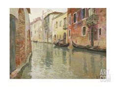 A Venetian Backwater Giclee Print by Fritz Thaulow at Art.com