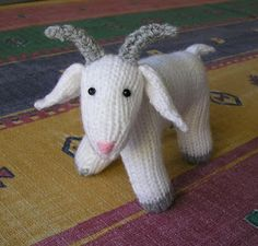 The Whole Goat Free Knitting Pattern and sheep and lamb knitting patterns at int… The Whole Goat Free Knitting Pattern und Strickmuster für Schafe und Lämmer bei intheloopknitting … Knitting For Kids, Free Knitting, Knitting Projects, Baby Knitting, Crochet Projects, Knitting Toys, Knitting Needles, Animal Knitting Patterns, Crochet Dolls