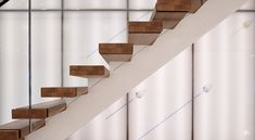Professionals in staircase design, construction and stairs installation. In addition EeStairs offers design services on stairs and balustrades. Floating Staircase, Modern Staircase, Staircase Design, Spencer Stuart, Stainless Steel Handrail, Floating In Space, Glass Balustrade, Wooden Stairs, Dark Wood