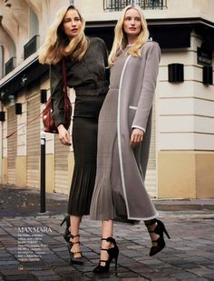 Call of Spring: Elise Aarnink & Maud Welze for Elle Russia February 2015 by Nikolay Biryukov