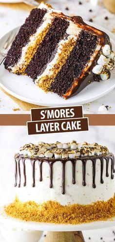 Easy Cake Recipes, Sweet Recipes, Baking Recipes, Dessert Recipes, Frosting Recipes, No Bake Desserts, Just Desserts, Delicious Desserts, Party Desserts