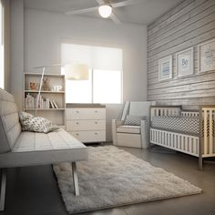 Inspired by clean lines and pared-down style, the contemporary nursery is warm and inviting for adults and baby alike. Here are some modern nursery ideas. http://snip.ly/70Tf