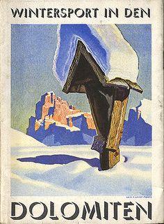 """Sport invernali in den Dolomiten,"" copertina 1938. Indietro"