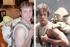 *Parent/Child Halloween Costumes  Movie: Star Wars  Adults:Luke Skywalker, Han Solo, Princes Leia, Chewbacca, Darth Vader, Obi Wan Kenobi, etc  Children: Yoda, R2-D2, Jawa