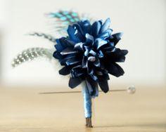 Blue Lapel Pin ... boutonniere alternative