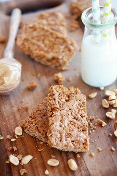 Crunchy Oatmeal Peanut Butter Oats n Honey Bars