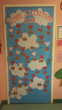 Two year old room valentines door!
